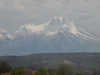 Snow capped Mt. Erciyes.