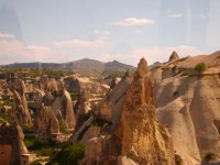 Spectacularly eroded rock formations - the rock is made of hardened volcanic ash.