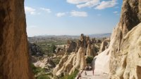 There are 16 small churches carved out of the rock - here in the Cappadocia Region.