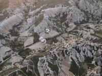 Brilliant views looking down on Cappadocia.