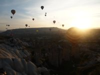 Sunrise and balloons.