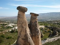 Rock formations eroded by the wind over millions of years.