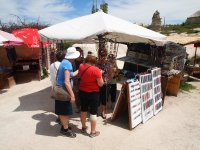 Hand made jewellery for sale in the middle of the Fairy Chimneys.