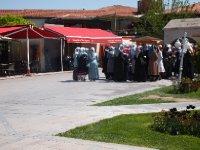 A group of Muslim women visiting the Mevlana Museum in Konya.