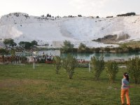 An early evening shot of the calcium cascades of Pamukkale.