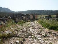 The main road into Hierapolis - original stones - 2000 years old.