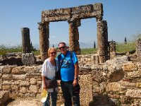 Anne and Red in front of some of the ruins of Hierapolis - Pamukkale.