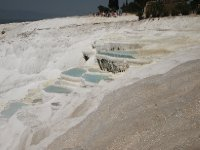 Limestone terraces at Pamukkale.
