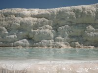 The unique limestone deposits at Pamukkale. They are as amazing as they look. Also called Cotton Castles.