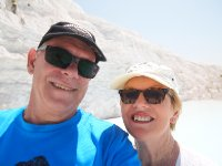 A selfie - at Pamukkale. Sunnies definitely required!