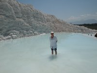 The hot springs at Pamukkale - an unusual sensation.