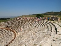 The huge amphitheatre in Hierapolis - built by the Greeks, added on to by the Romans.