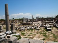 The remains of the Agora (market place) of Perge.