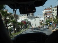 View out of the front windscreen in our van - arriving in Antalya.