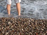 Pebble stone beach - Antalya, Turkey.
