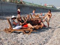 Having fun on the beach at Antalya.