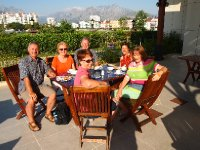 Our final breakfast in Antalya - with a gorgeous view of the mountains.