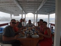 Lunch on our boat whilst moored in a small bay at the site of a sunken city - Kekova.