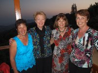 Fleur, Lesley, Jacquie and Anne - at dinner in the mountains above Kalkan.