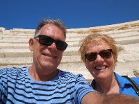 Selfie in the Politarium at Patara. How blue is the sky?