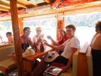 Us 4 girls enjoying an Efes Beer.