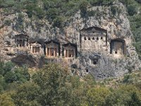 The Lycian Tombs of Dalyan - we sailed past them.