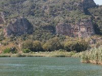 Approaching the Lycian Tombs.