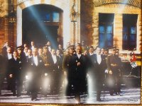 Another photo on display in our hotel. Interestingly - my photo only focused on Ataturk. This is a photo of him leaving Parliament with his fellow members.
