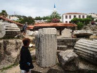 Parts of the original columns that made up the Mausoleum of Halicarnassus.