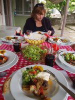 Traditional Turkish lunch - in the home of our host family.