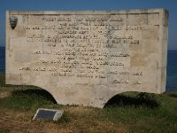 A plaque at Anzac Cove displaying the famous message from Mustafa Kemal Ataturk - to those Australians who lost loved ones.
