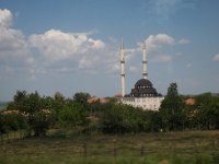 A beautiful mosque on the road to Istanbul.