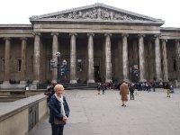 Arriving at the British Museum.