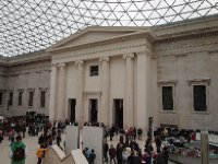 Interior of the entrance to the British Museum.