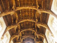 The majestic ceiling in the Great Room - designed by Cardinal Wolsey.
