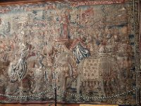 A beautiful tapestry - Henry VIII owned more than 2,000 tapestries. Too much wealth.