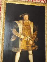Famous portrait of Henry VIII. Hampton Court Palace was his home for decades.