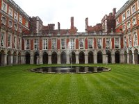 One of the interior courtyards within the Palace. Beautifully tended lawns.