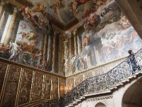 One of numerous staircases in Hampton Court Palace.
