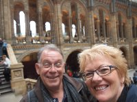 Selfie - two idiots abroad - at the Natural History Museum.