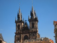 The Tyn Church in the Old Town Square - Prague.