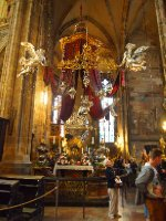 One of many ornate altars in St. Vitus Cathedral.