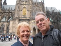 Selfie - in front of St. Vitus Cathedral - in the grounds of the Prague Castle.