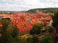 Terracotta rooves of Prague.