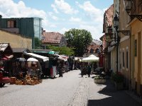 Market area in Zagreb's Lower Town.