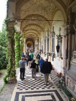 The arcade in Zagreb's Cemetery - the resting place of famous and wealthy people.