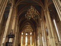 Inside Zagreb's Cathedral - chandeliers from Las Vegas.