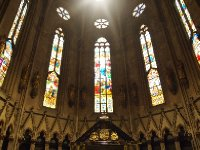 Leadlight windows in Zagreb's Cathedral.