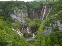 Our first view of the waterfalls at Plitvice - stunning!