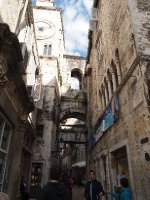 Inside the walls of the Diocletian's Palace - Split.